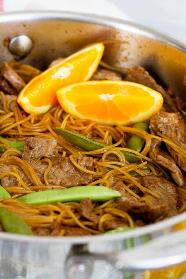 Orange Teriyaki Beef and Noodles