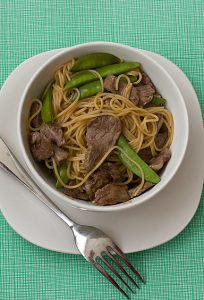 Orange Teriyaki Beef with Noodles | www.tasteandtellblog.com