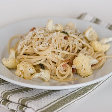 Pasta with Bacon and Cauliflower | www.tasteandtellblog.com