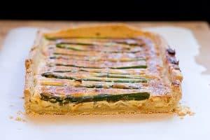 Asparagus, Parmesan and Olive Tart   www.tasteandtellblog.com