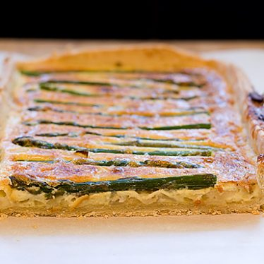 Asparagus, Parmesan and Olive Tart | www.tasteandtellblog.com