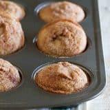 Cinnamon Muffins in a muffin pan