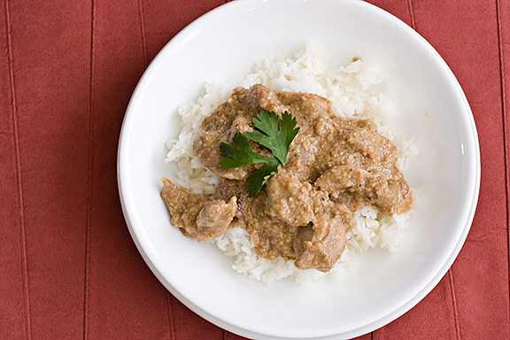 Coconut Chicken with Cashews | www.tasteandtellblog.com