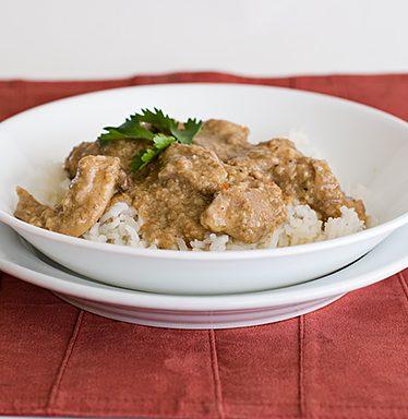 Coconut Chicken with Cashews | www.tasteandtellblog.com