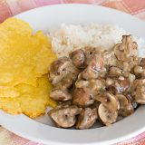 Mushrooms in a Coriander Scented White Sauce | www.tasteandtellblog.com
