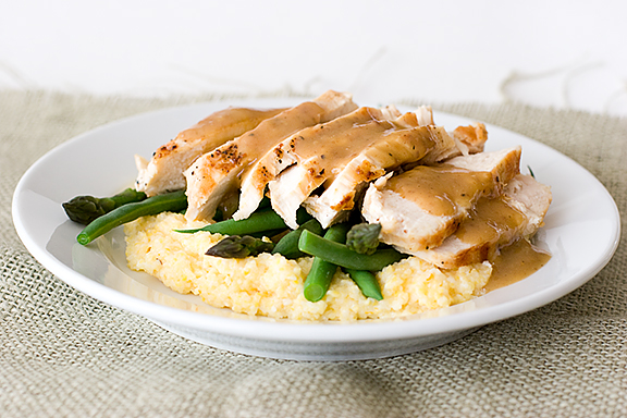 Orange-Balsamic Chicken with Asparagus, Green Beans and Polenta | www ...