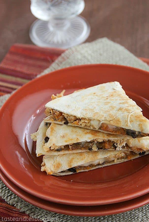 Sweet-Potato Chicken Quesadillas {Saturdays with Rachael Ray}