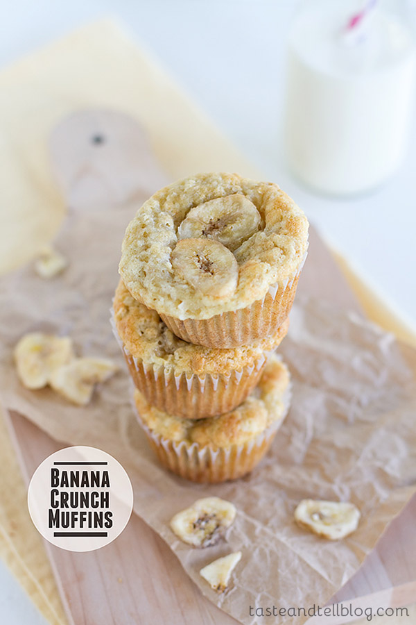 These muffins are loaded with granola, coconut and lots of bananas in these Banana Crunch Muffins that are sure to become a favorite!