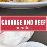 Cabbage and Beef Bundles collage