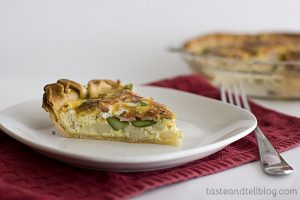 Canadian Bacon and Potato Quiche | www.tasteandtellblog.com