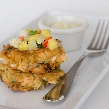 Curried Salmon Cakes | www.tasteandtellblog.com