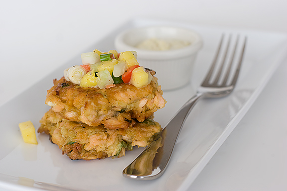 Curried Salmon Cakes