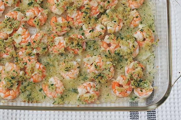 Garlicky Baked Shrimp | www.tasteandtellblog.com