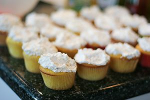 Lemon Pop Cupcakes with Pineapple Coconut Topping | www.tasteandtellblog.com