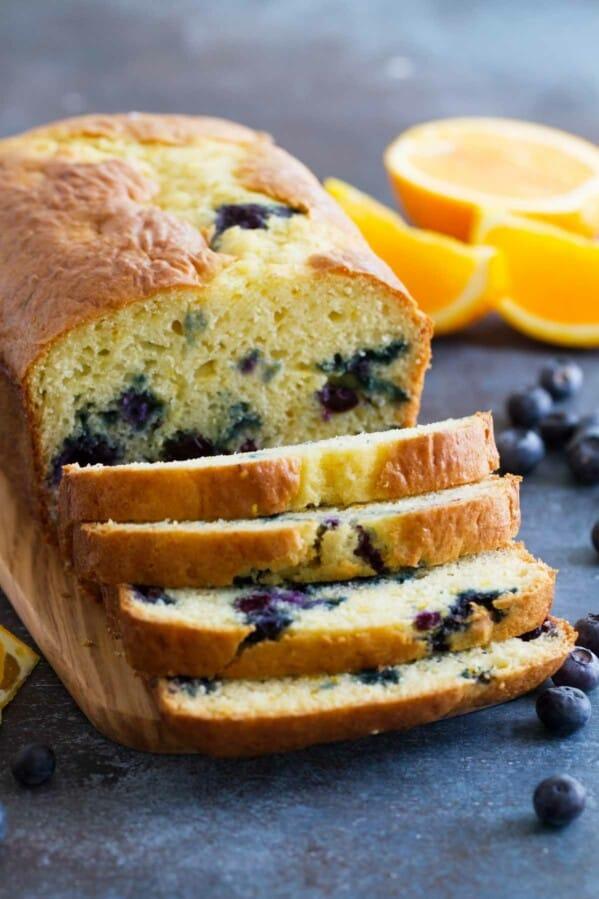 Orange Blueberry Quick Bread