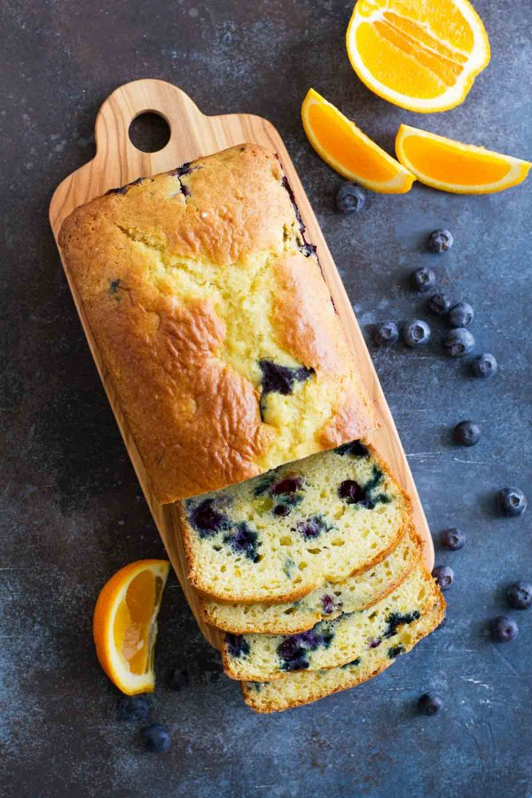 Orange Blueberry Bread recipe