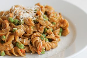 Peas and Carrots Pasta | www.tasteandtellblog.com