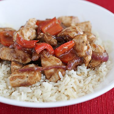 Sweet Pepper Chicken with 5 Spice | www.tasteandtellblog.com
