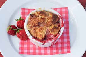 Warm Cajeta Pudding with Fresh Berries Recipe