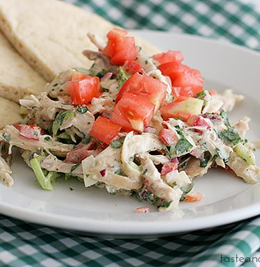 Chicken Salad with Yogurt-Ranch Dressing | www.tasteandtellblog.com