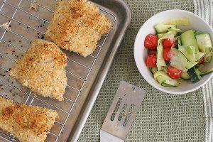 Crispy Fish with Shaved Zucchini Salad | www.tasteandtellblog.com