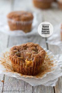 Mango Banana Muffins from www.tasteandtellblog.com