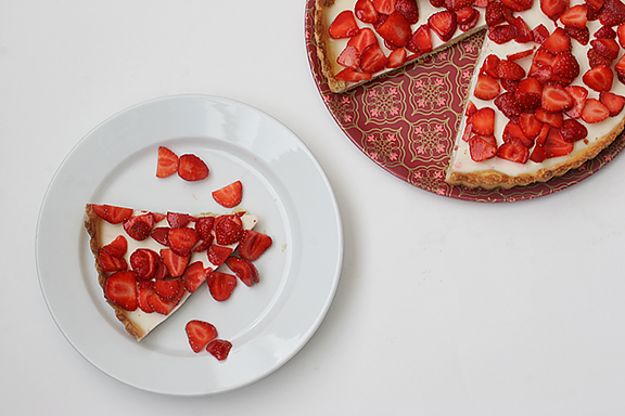 Strawberries and Cream Tart | www.tasteandtellblog.com