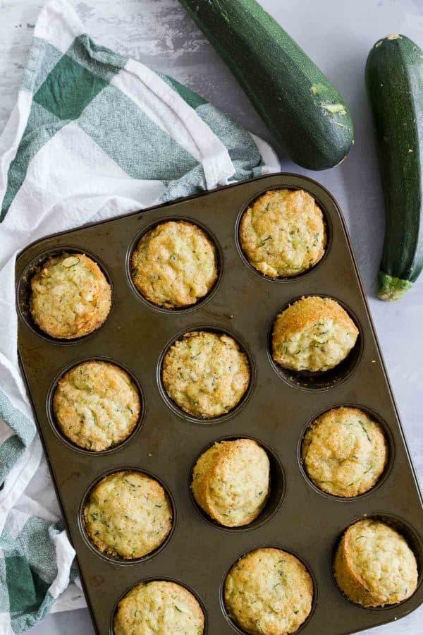 Zucchini Muffins in a pan