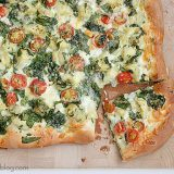 Artichoke, Tomato and Spinach Pizza | www.tasteandtellblog.com