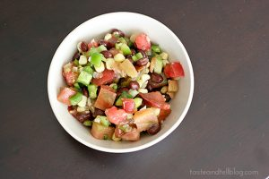 Black Bean, Corn and Tomato Salad | www.tasteandtellblog.com