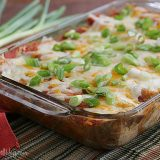Cream Cheese Chicken Enchiladas | www.tasteandtellblog.com