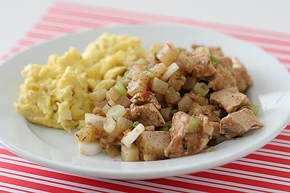 Jerk Chicken Hash | www.tasteandtellblog.com