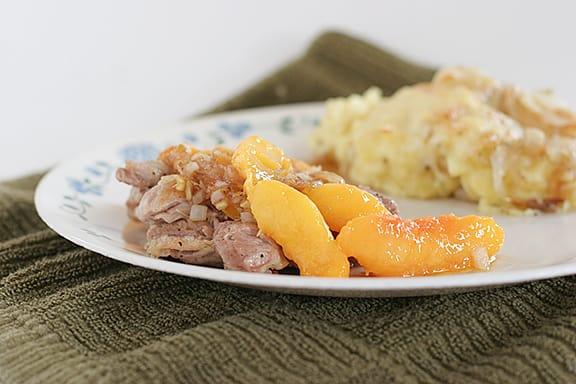 Chicken and Nectarines   www.tasteandtellblog.com
