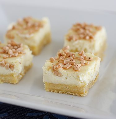 Creme Brulee Cheesecake Bars | www.tasteandtellblog.com