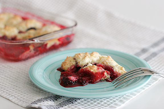 Fresh Fruit Cobbler | www.tasteandtellblog.com
