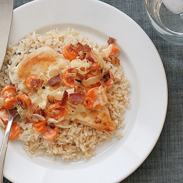 Smothered Chicken with Brown Rice | www.tasteandtellblog.com