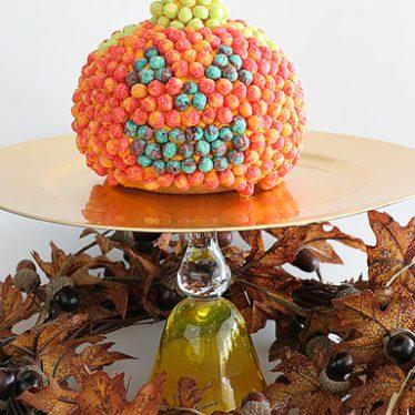 Trix-y Jack-o-Lantern Cake | www.tasteandtellblog.com