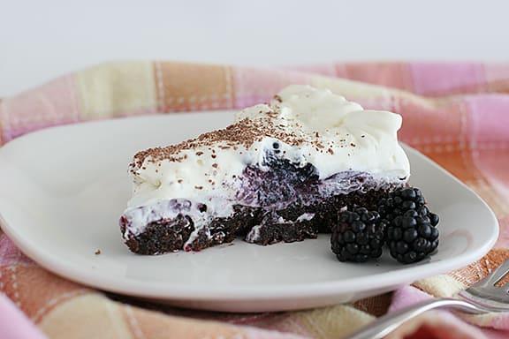 Tuxedo Brownie Pie | www.tasteandtellblog.com