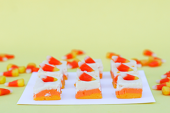 Candy Corn Fudge - Part 1 {and a giveaway!} - Taste and Tell