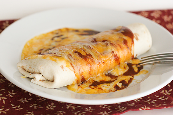 Chili Potato Burritos | www.tasteandtellblog.com #recipe #meatless