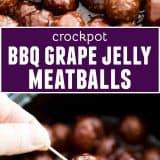 Crockpot Meatballs - BBQ Grape Jelly Meatballs