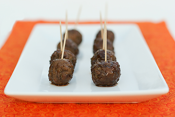 Grape BBQ Meatballs | www.tasteandtellblog.com