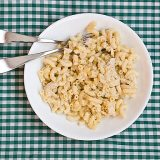 Mac and Cheese with Salsa Verde | www.tasteandtellblog.com
