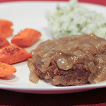 Salisbury Steak with Mashed Potatoes and Parsnips | www.tasteandtellblog.com