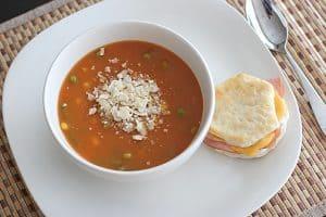 Two-Potato Vegetable Soup   www.tasteandtellblog.com