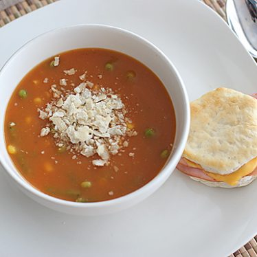 Two-Potato Vegetable Soup | www.tasteandtellblog.com