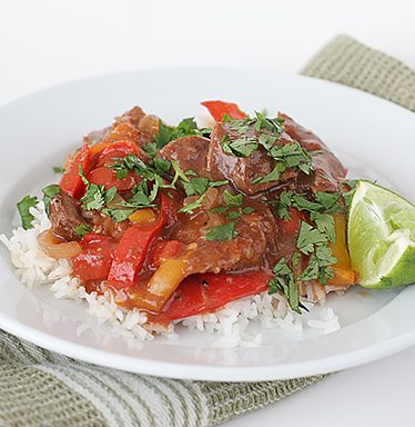 Asian Pepper Steak {Slow Cooker} | www.tasteandtellblog.com