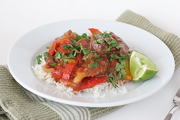 Asian Pepper Steak {Slow Cooker} | www.tasteandtellblog.com