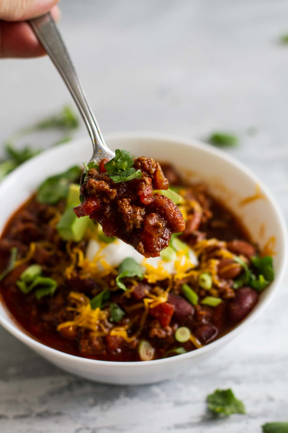 spoonful of crock pot chili