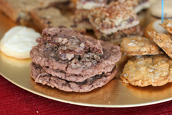 German Chocolate Thumbprint Cookies {The Cookie Party Cookbook Review}